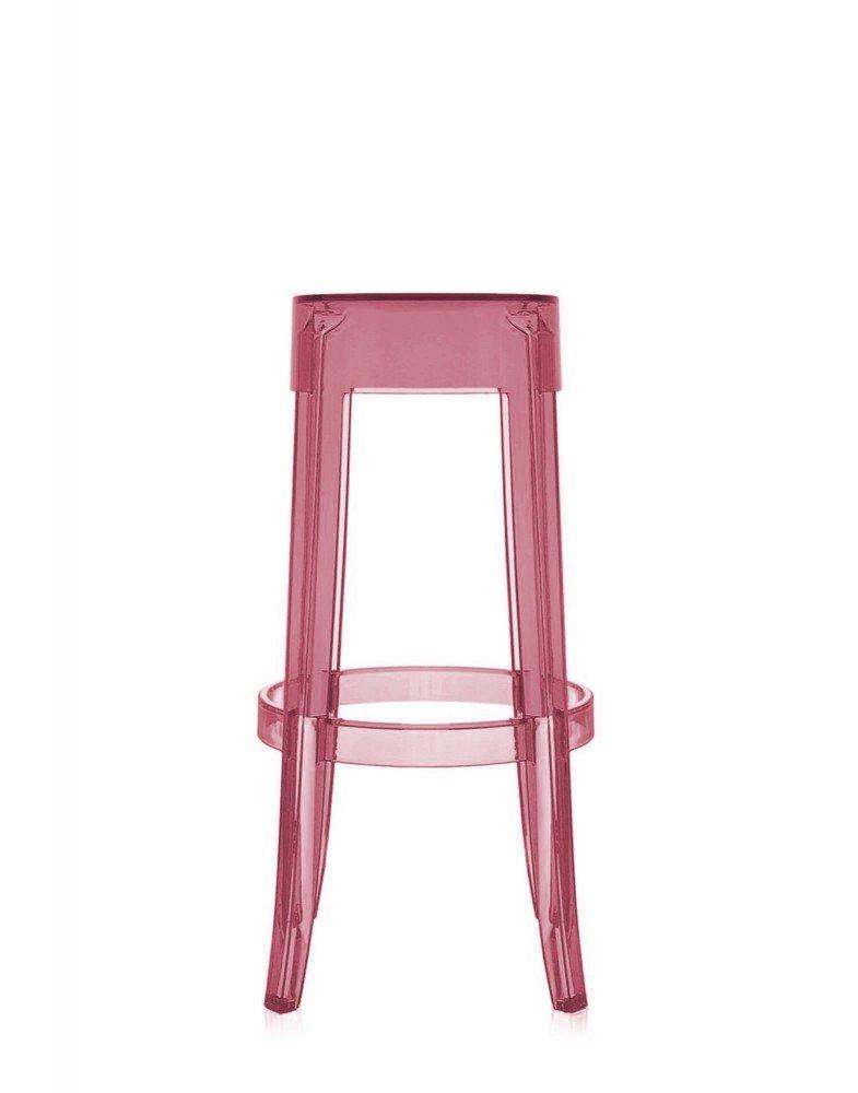 Стул барный Charles Ghost (розовый)