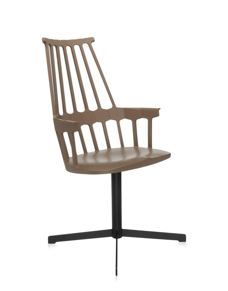 Кресло Comback (ореховое) вращающееся