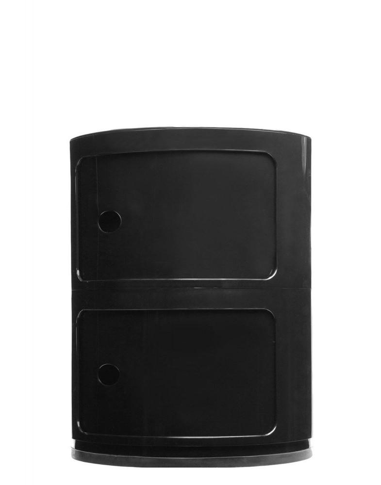 Контейнер Componibili (черный) высота 40см, диаметр 32см