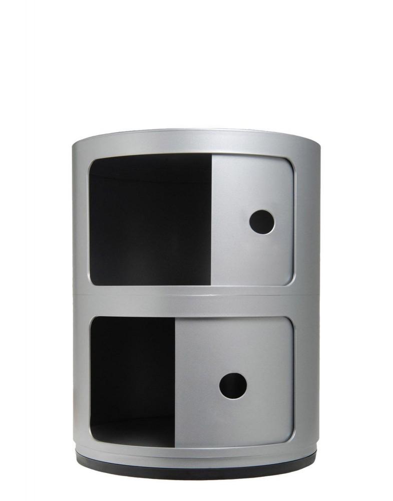 Контейнер Componibili (серебряный) высота 40см, диаметр 32см