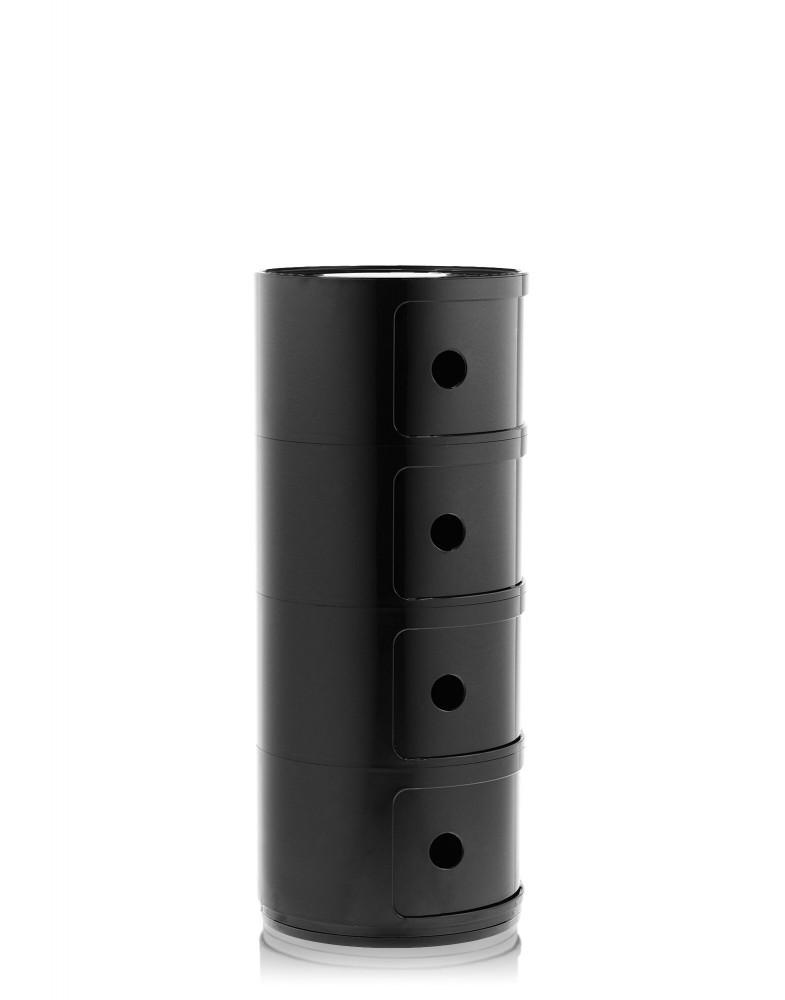 Контейнер Componibili (черный) высота 77см, диаметр 32см