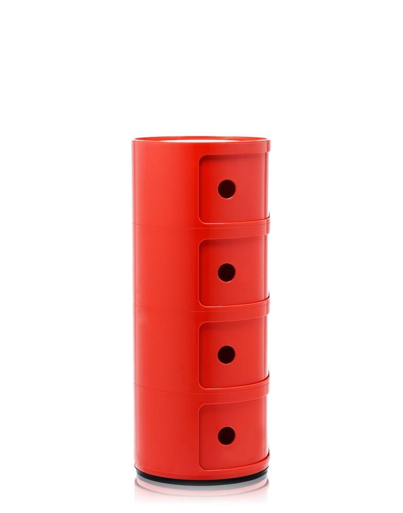 Контейнер Componibili (красный) высота 77см, диаметр 32см