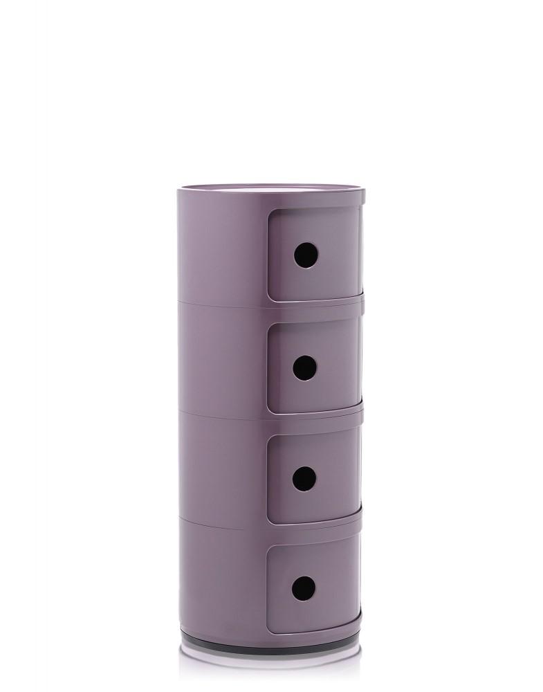 Контейнер Componibili (фиолетовый) высота 77см, диаметр 32см
