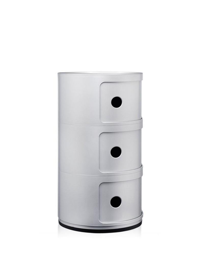 Контейнер Componibili (серебряный) высота 58,5см, диаметр 32см