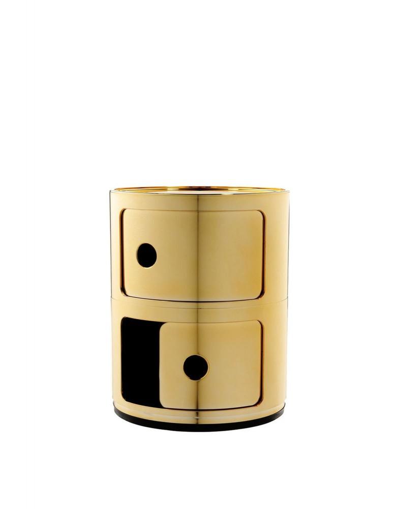 Контейнер Componibili (золотой) высота 40см, диаметр 32см