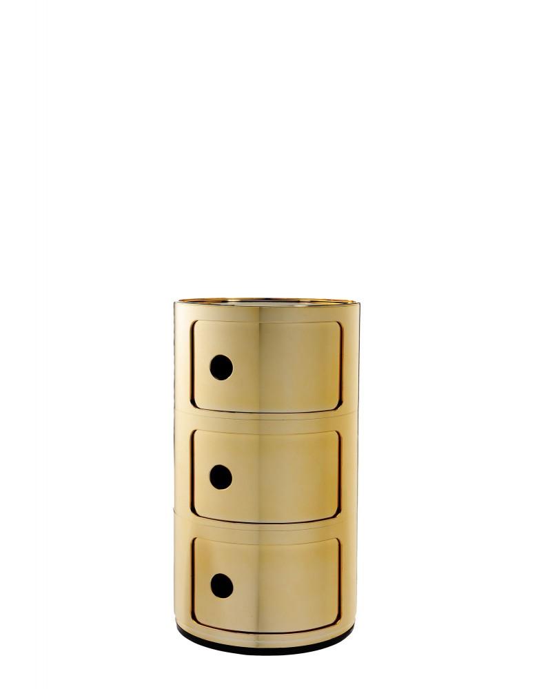 Контейнер Componibili (золотой) высота 58,5см, диаметр 32см