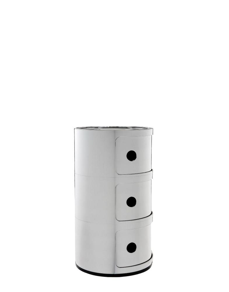 Контейнер Componibili (хромированный) высота 58,5см, диаметр 32см