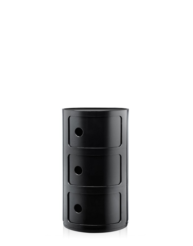 Контейнер Componibili (черный) высота 58,5см, диаметр 32см