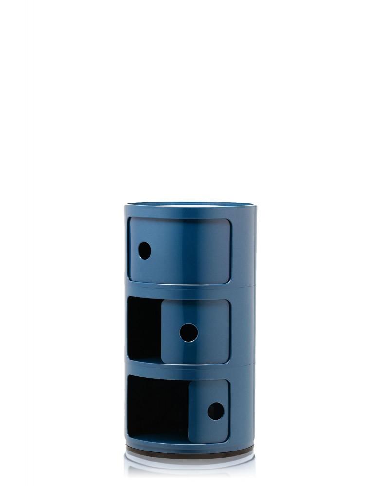 Контейнер Componibili (синий) высота 58,5см, диаметр 32см