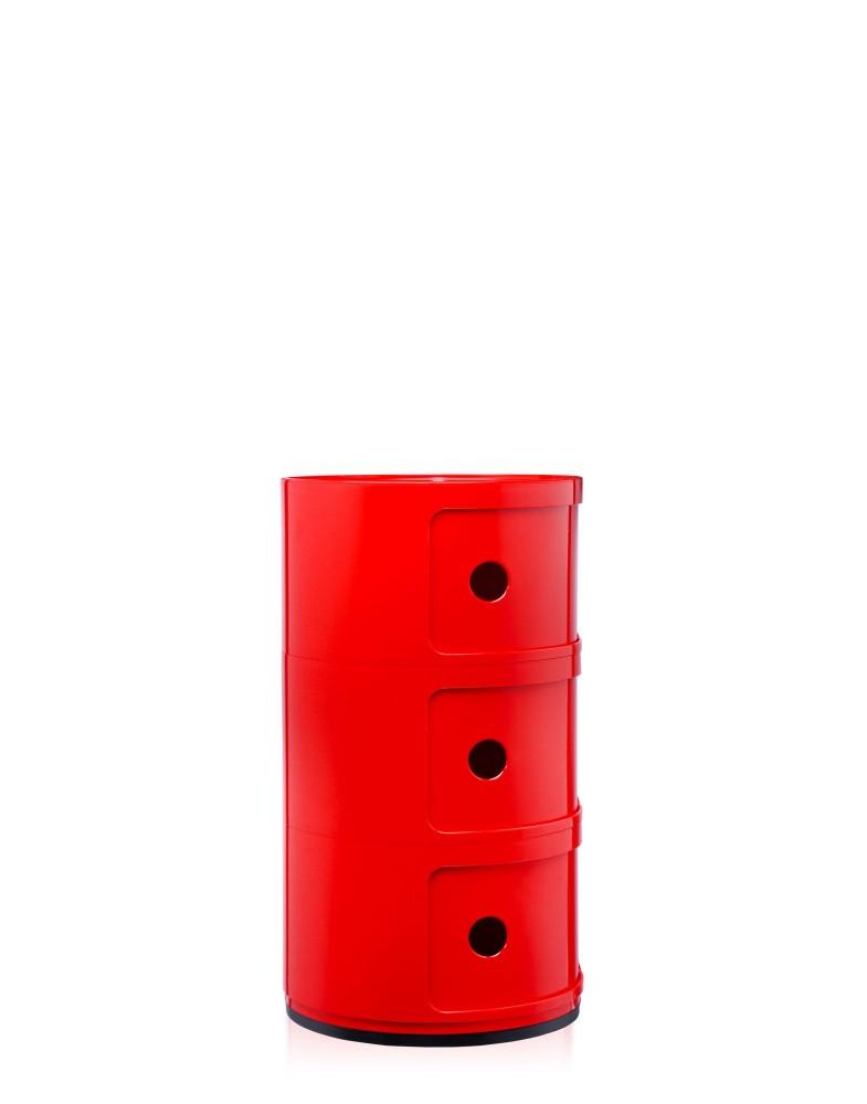 Контейнер Componibili (красный) высота 58,5см, диаметр 32см