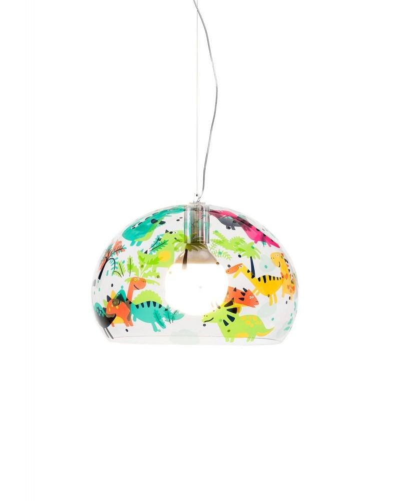Светильник подвесной FL/Y (кристалл) 53см с рисунком