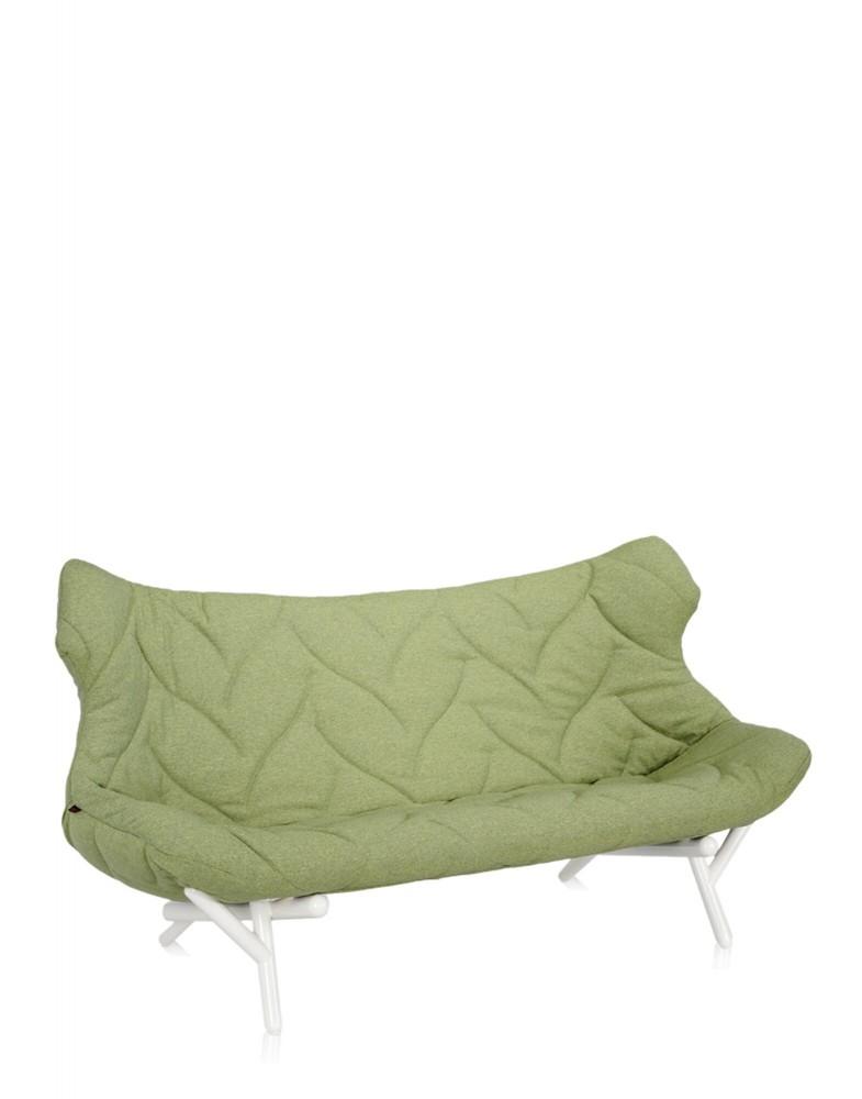 Диван Foliage (зеленый/белый)