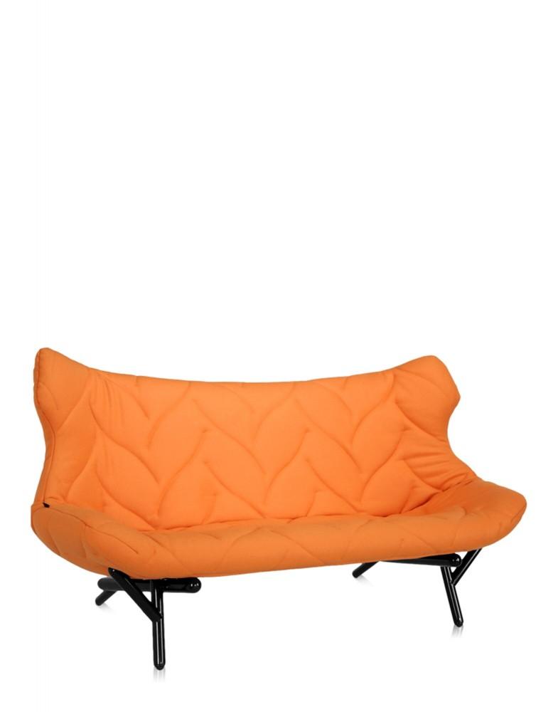 Диван Foliage (оранжевый/черный)