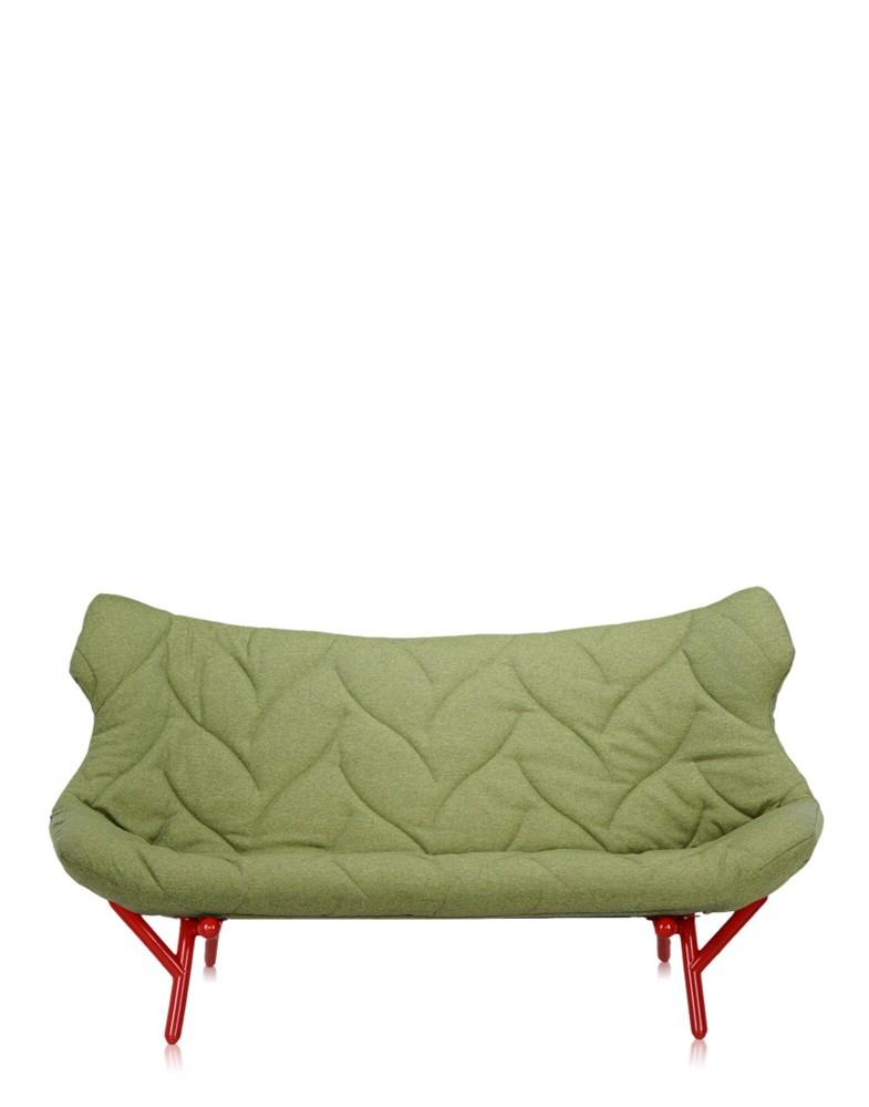 Диван Foliage (зеленый/красный)