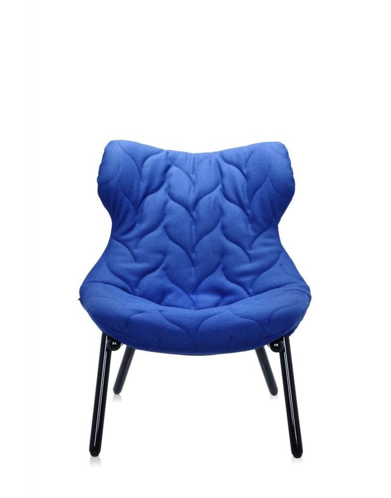 Кресло Foliage (голубое/черное)