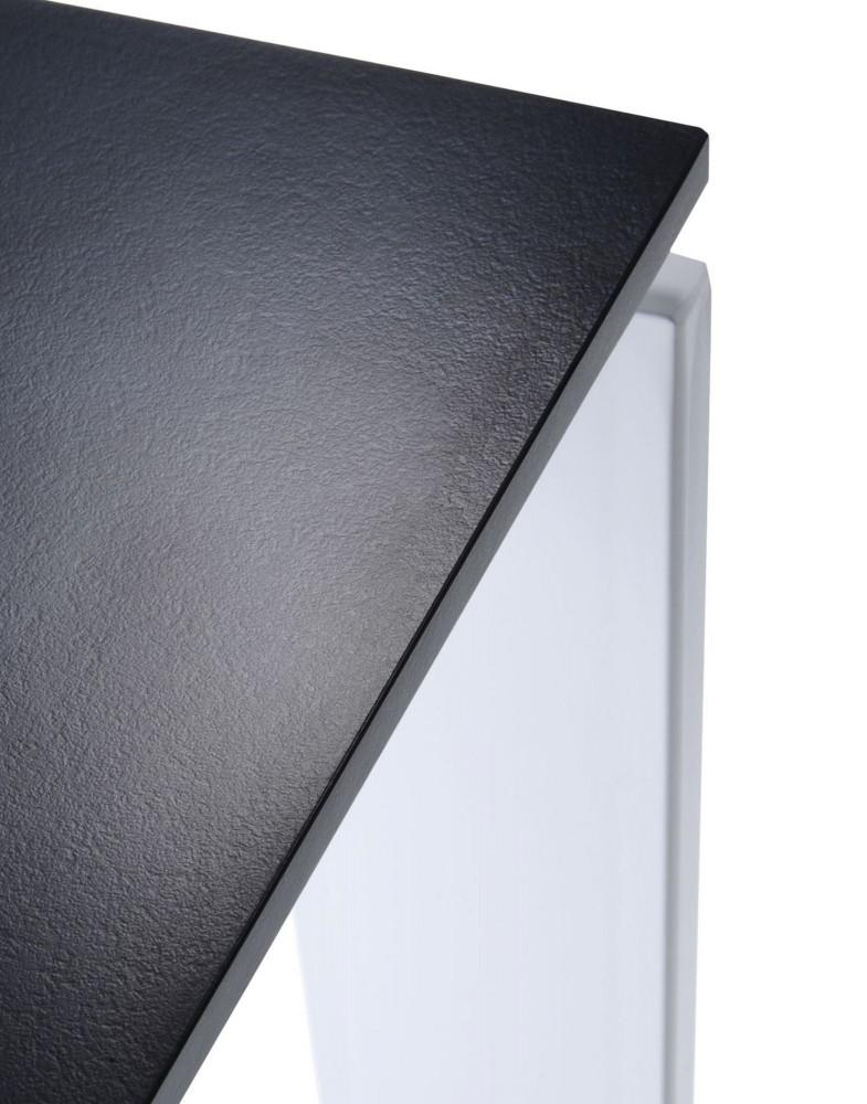 Стол офисный Four (черный/алюминиевый) 190x79см