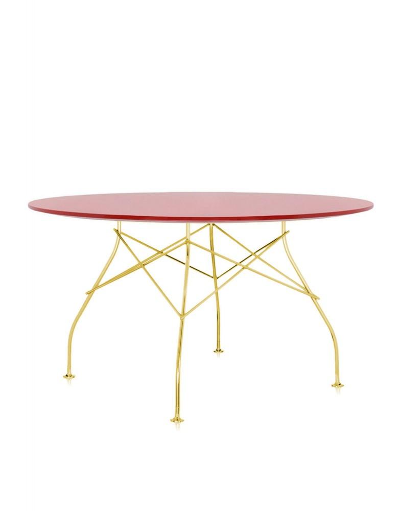 Стол Glossy (красный/золотой) диаметр 130см