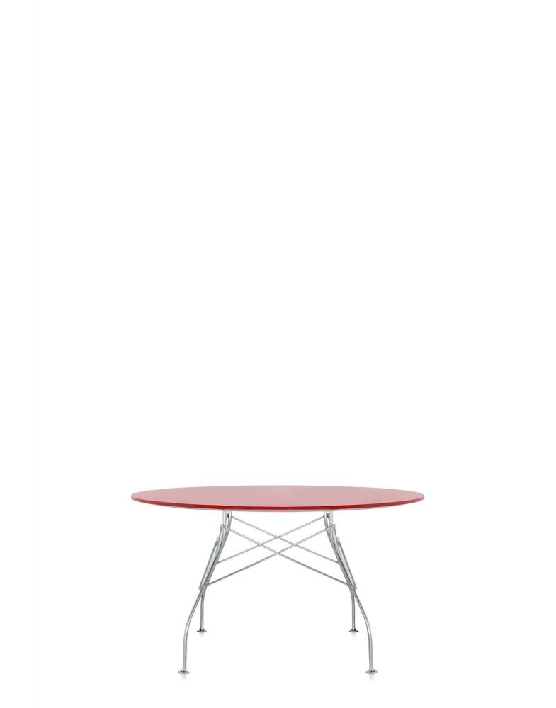 Стол Glossy (красный/хромированный) диаметр 130см