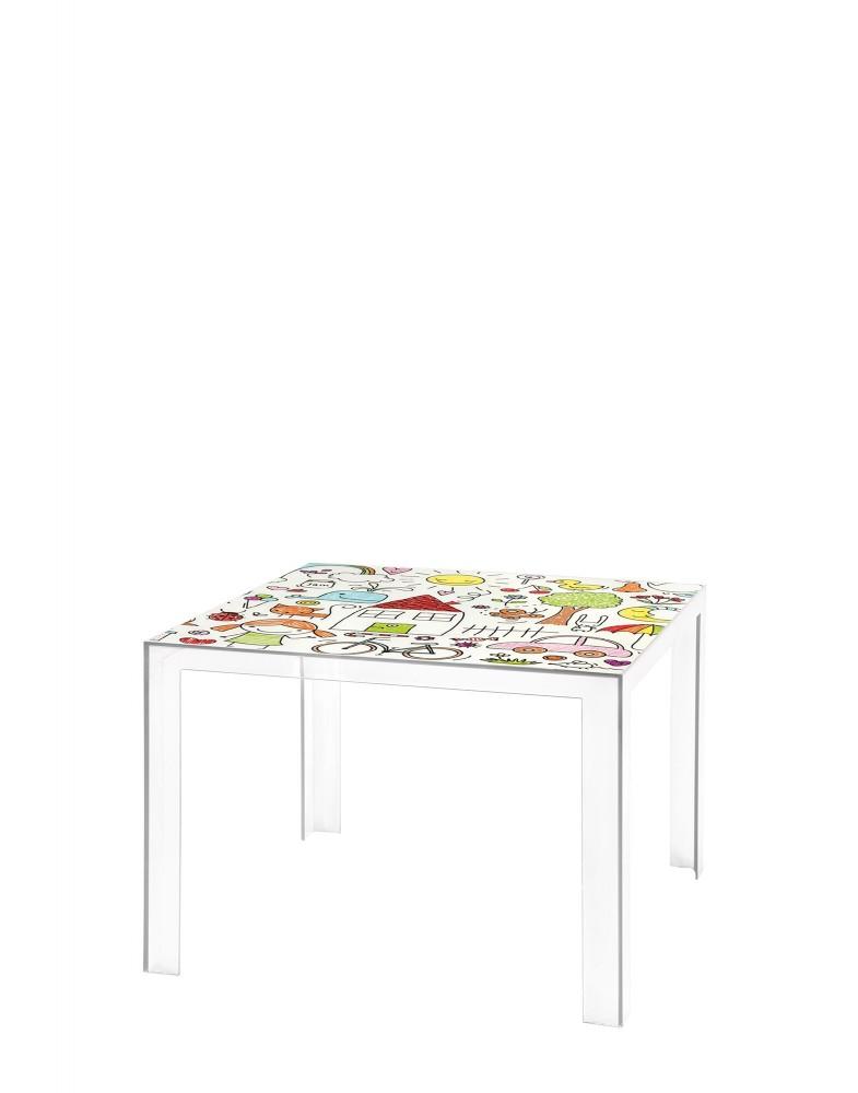 Стол Invisible Table (кристалл) с рисунком