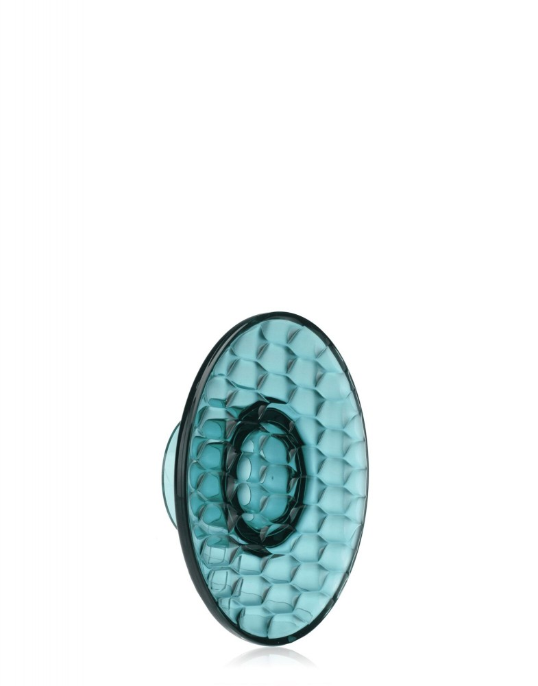 Вешалка настенная Jelly (голубая) диаметр 13см