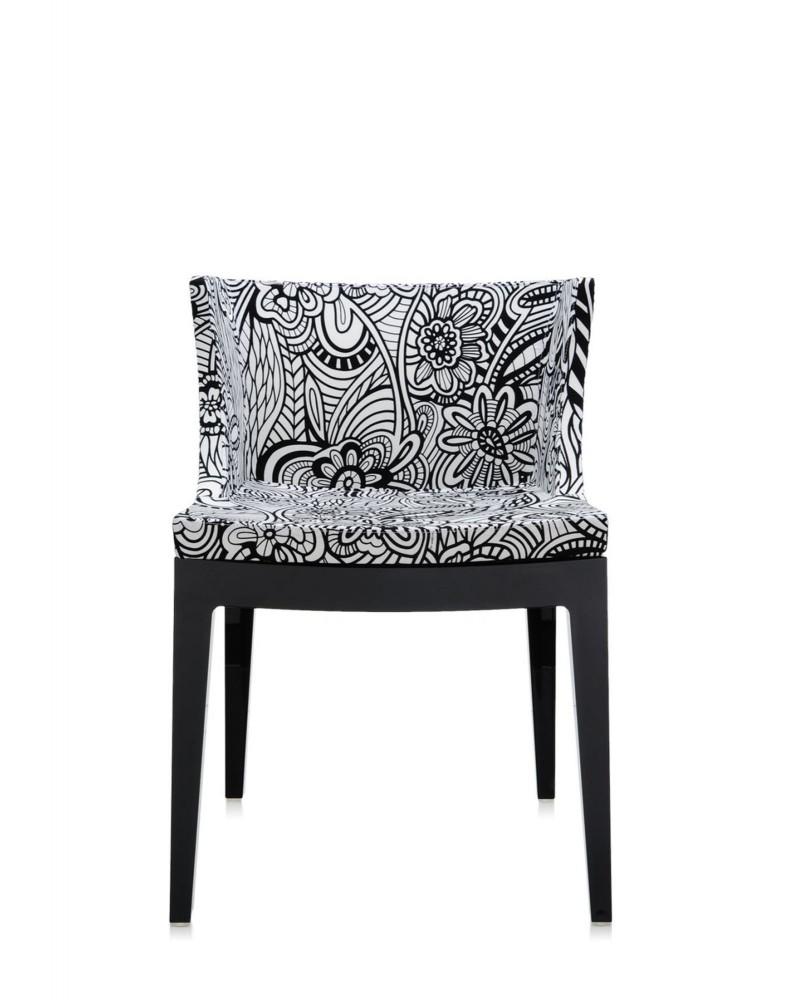 Кресло Mademoiselle (черное/серое) в ткани Missoni