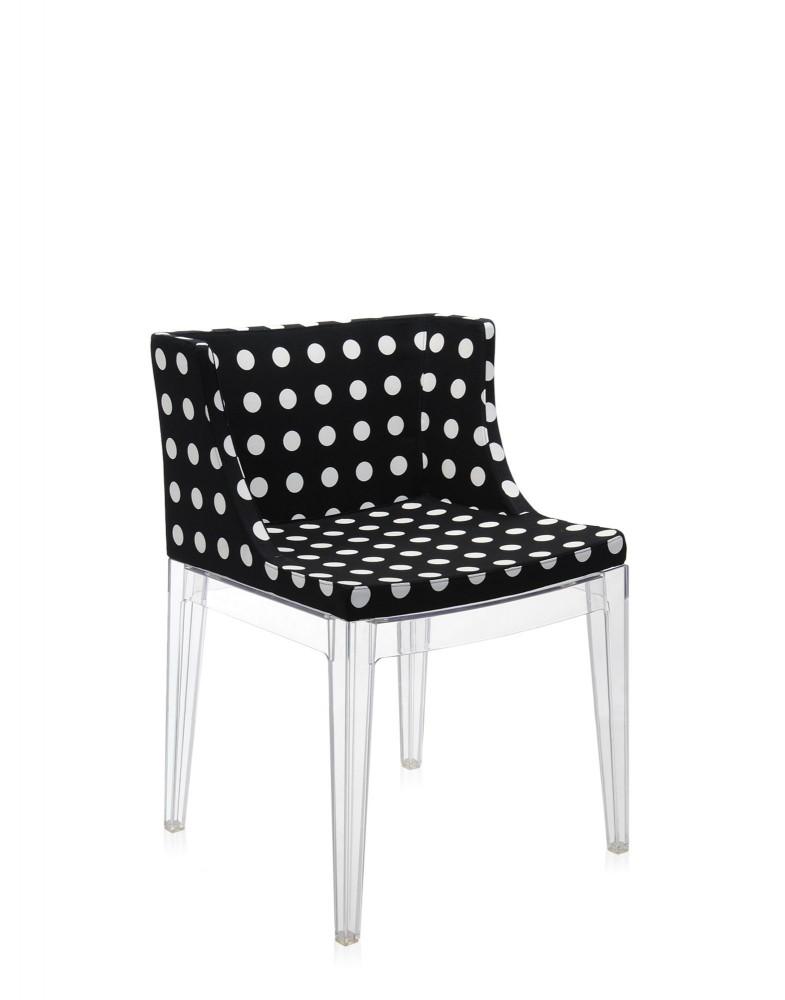 Кресло Mademoiselle (кристалл/черное) в ткани Moschino