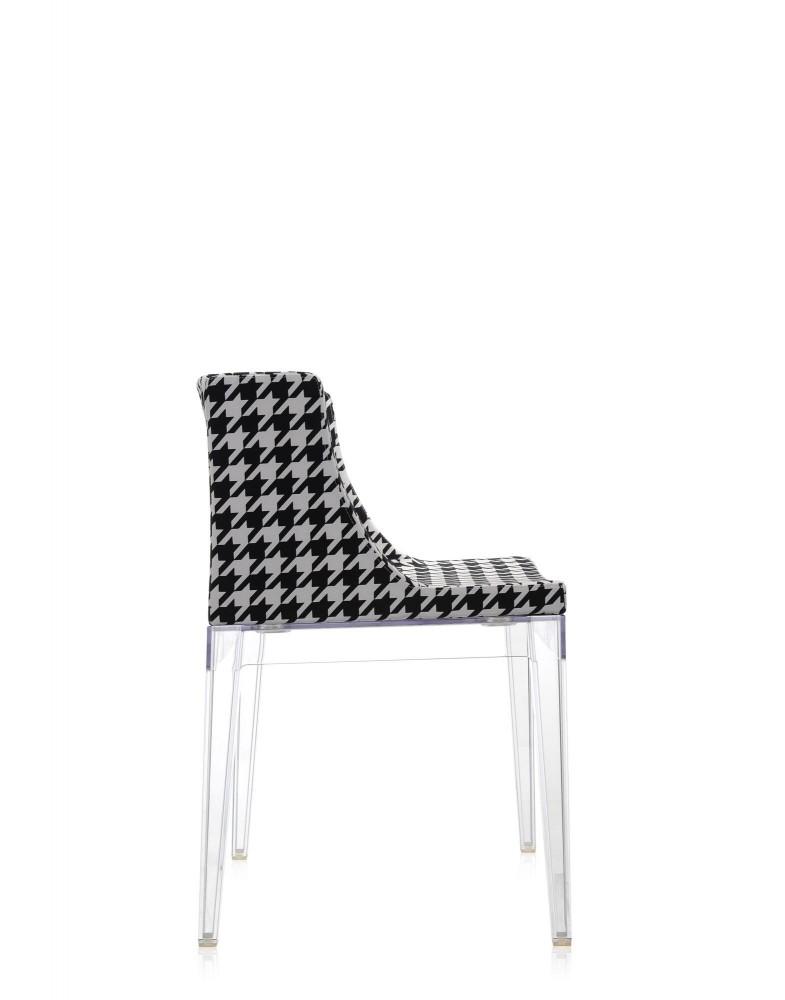 Кресло Mademoiselle (кристалл/серое) в ткани Moschino