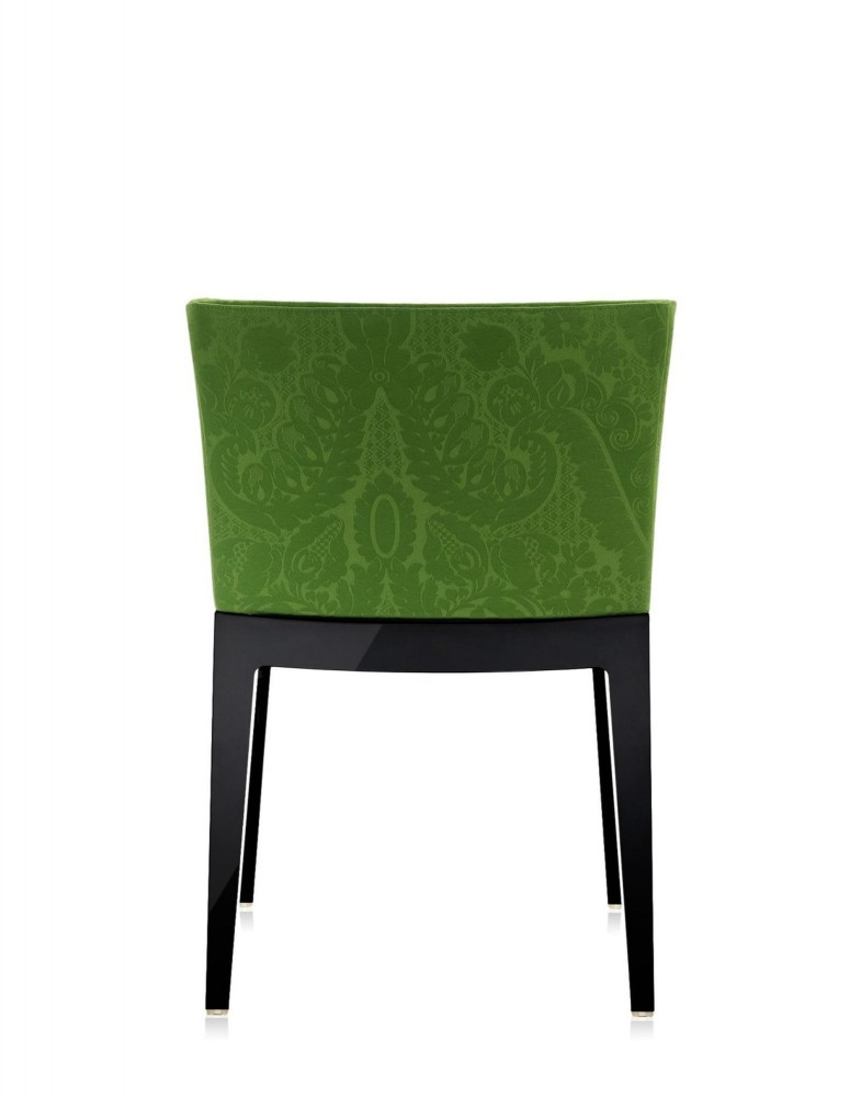 Кресло Mademoiselle (черное/зеленое) в ткани Moschino