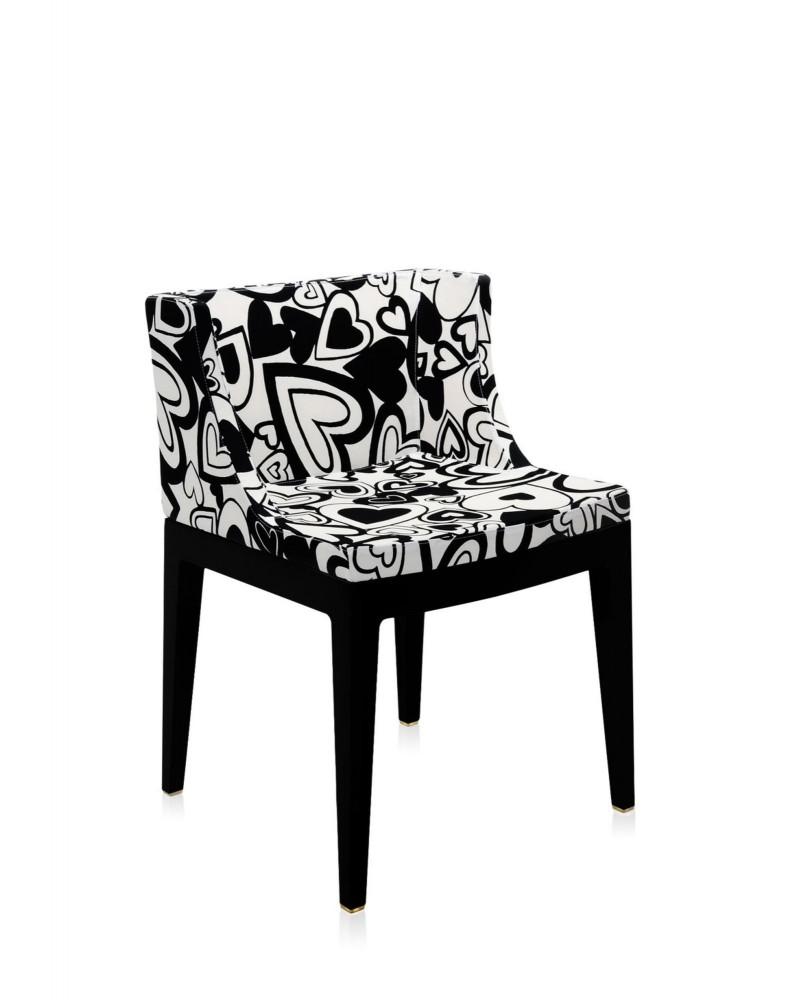 Кресло Mademoiselle (черное) в ткани Moschino