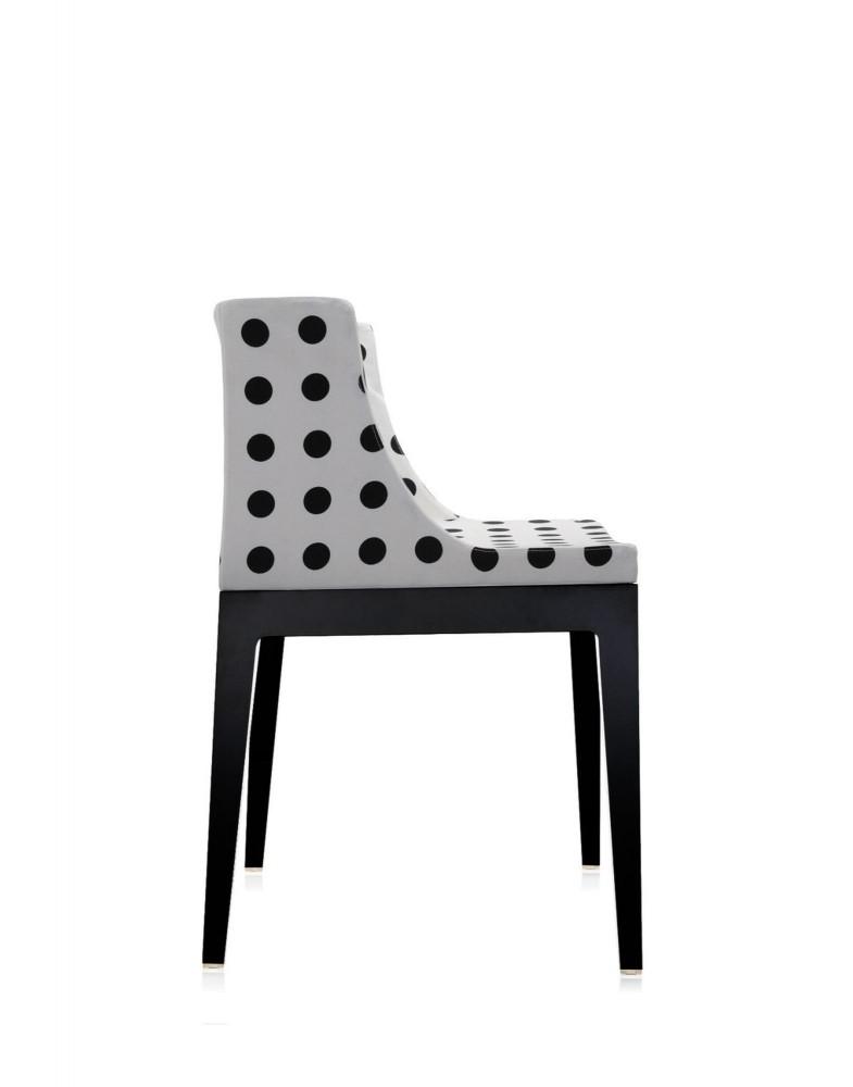 Кресло Mademoiselle (черное/белое) в ткани Moschino