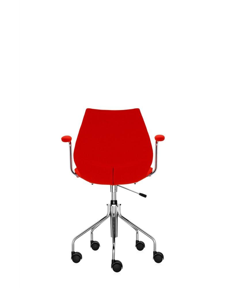 Кресло Maui Soft на колесах (красное) в ткани Trevira