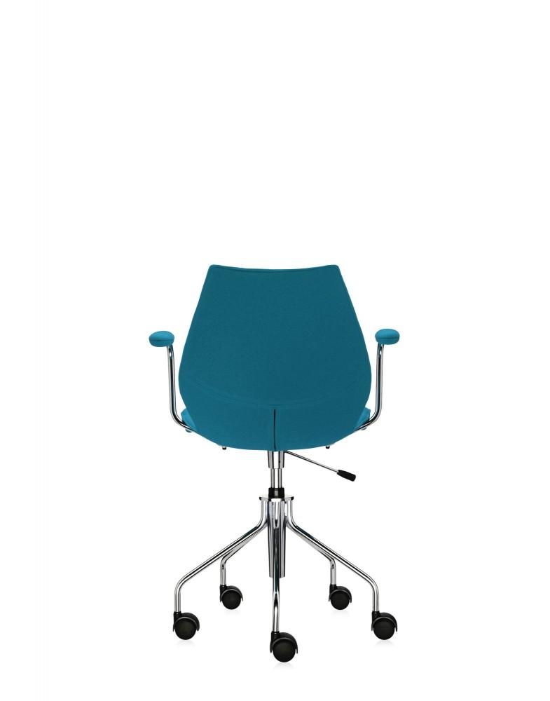 Кресло Maui Soft на колесах (голубое) в ткани Trevira