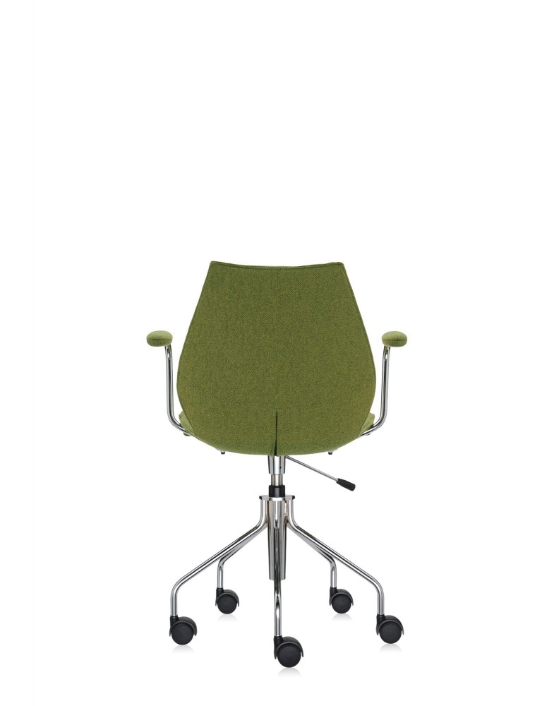 Кресло Maui Soft на колесах (зеленое) в ткани Trevira
