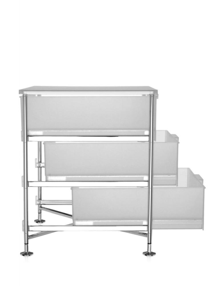 Контейнер Mobil на ножках (белый) с тремя ящиками