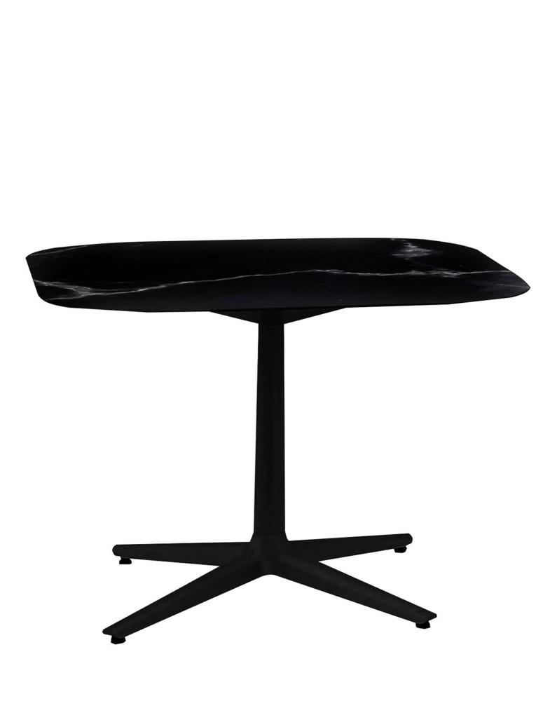 Стол Multiplo (черный) 99х99см, мрамор, крестообразное основание