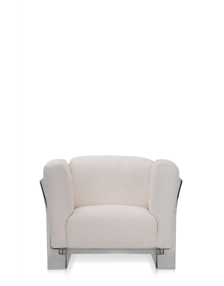 Кресло Pop Duo (белое/кристалл)
