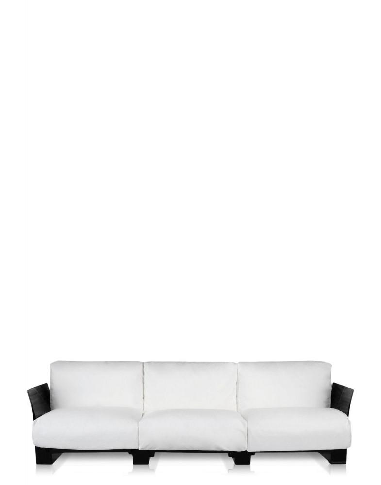 Диван Pop трехсекционный (белый/черный)