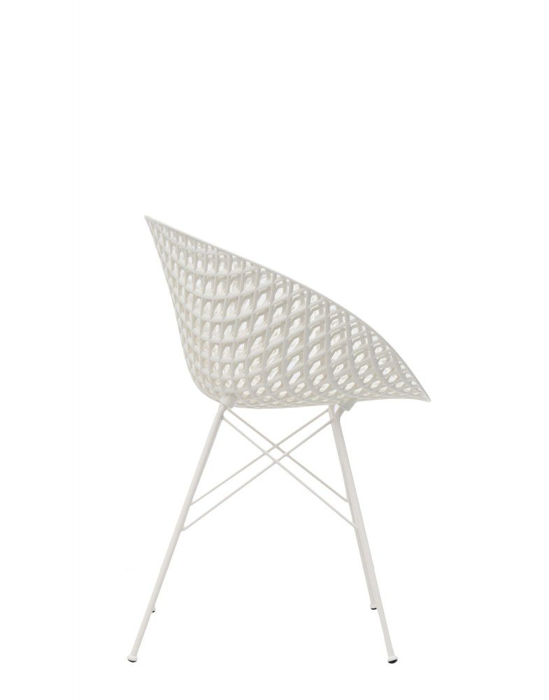 Кресло Smatrik (белое) на ножках