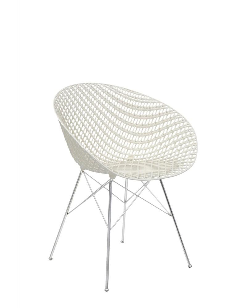 Кресло Smatrik (белое /хромированное) на ножках