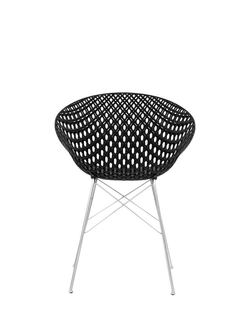 Кресло Smatrik (черное/хромированное) на ножках