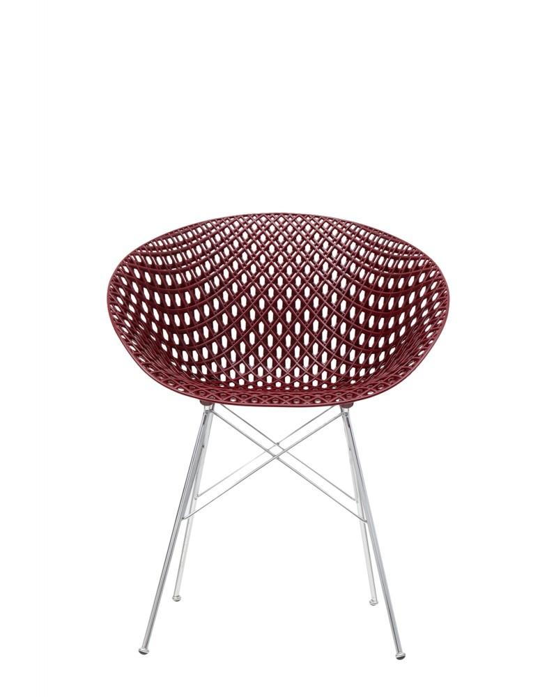 Кресло Smatrik (фиолетовое/хромированное) на ножках
