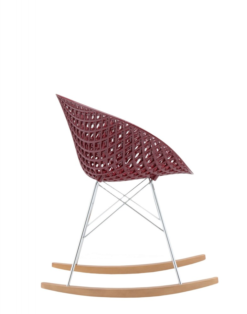 Кресло Smatrik (фиолетовое/дерево) на салазках