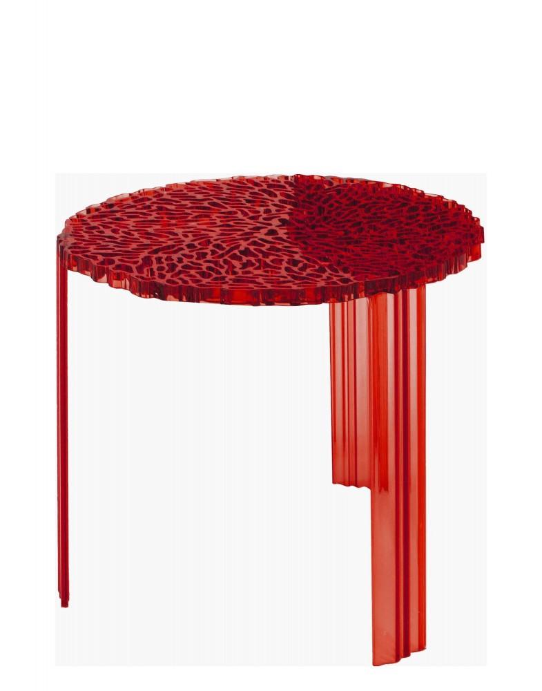 Столик журнальный T-Table (красный) высота 44см