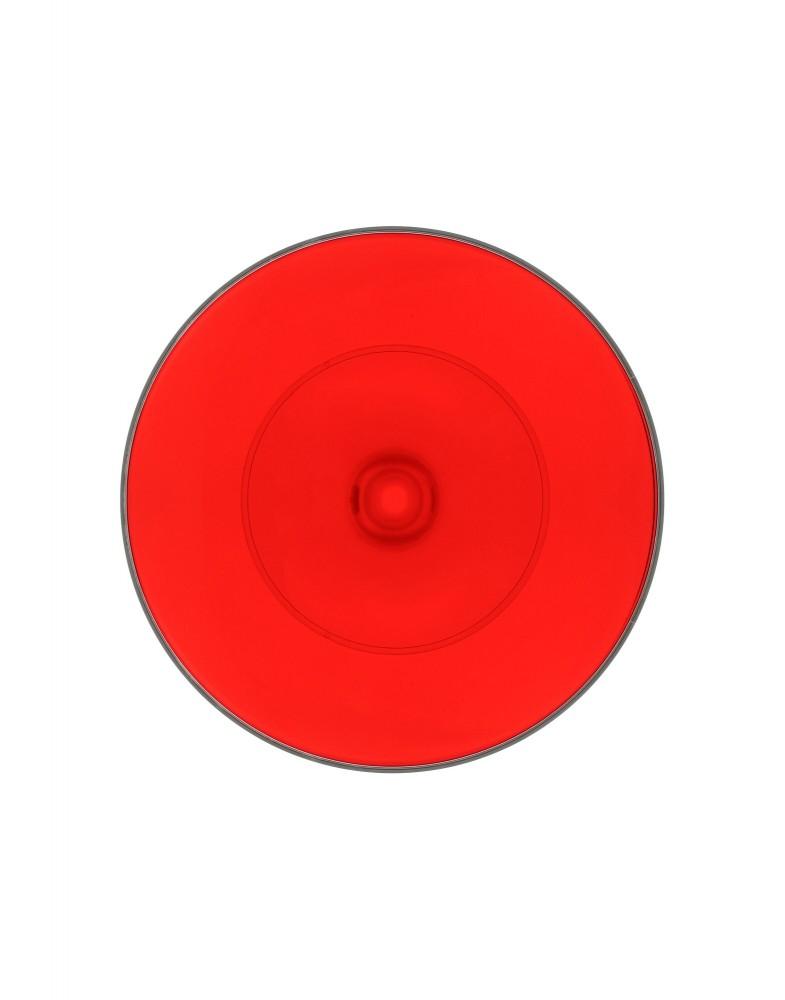 Столик журнальный TipTop (красный/кристалл)