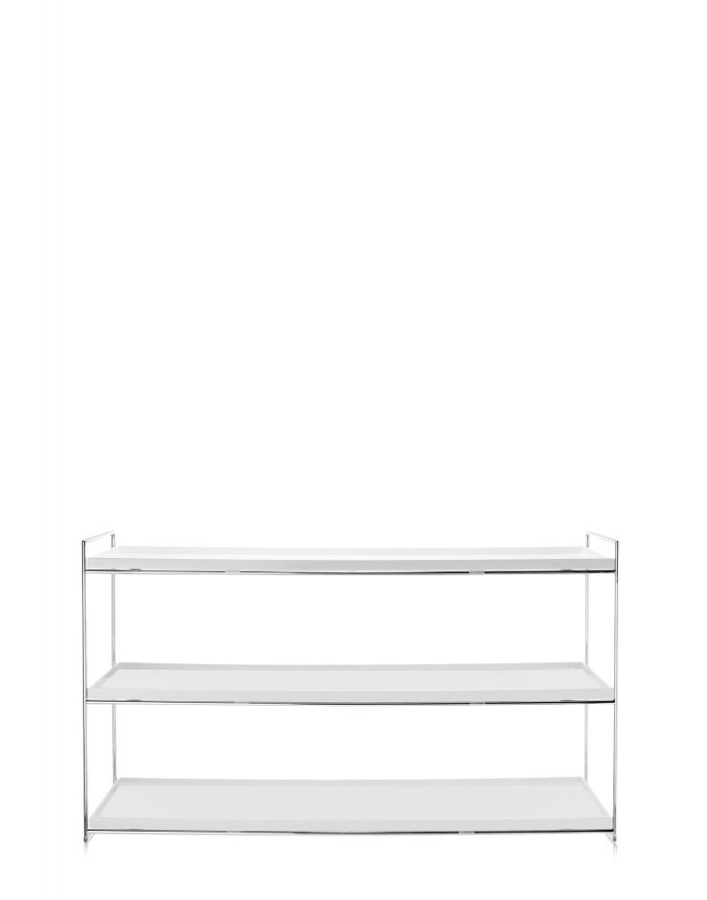 Консоль Trays (белая) 140x40см, двухуровневая